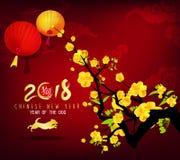 Ευχετήρια κάρτα καλής χρονιάς 2018 στοκ φωτογραφίες με δικαίωμα ελεύθερης χρήσης