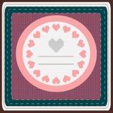 Ευχετήρια κάρτα καρδιών Στοκ Εικόνα