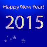 2015 ευχετήρια κάρτα καλής χρονιάς υπόβαθρο διανυσματικό EPS 10 Στοκ Φωτογραφία
