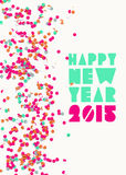 Ευχετήρια κάρτα καλής χρονιάς 2015 Στοκ Εικόνες