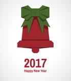 Ευχετήρια κάρτα καλή χρονιά διανυσματική απεικόνιση