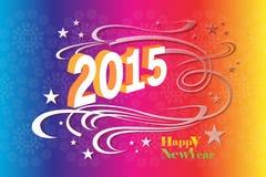 Ευχετήρια κάρτα κρητιδογραφιών του ζωηρόχρωμου υποβάθρου, καλή χρονιά - απεικόνιση eps10 διανυσματική απεικόνιση