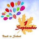 Ευχετήρια κάρτα μέχρι την 1η Σεπτεμβρίου απεικόνιση αποθεμάτων