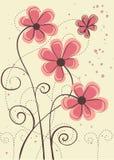 Ευχετήρια κάρτα με τα λουλούδια Στοκ Εικόνα