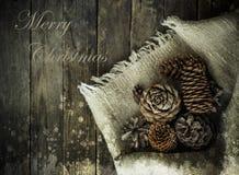 Ευχετήρια κάρτα με τα Χριστούγεννα Στοκ φωτογραφία με δικαίωμα ελεύθερης χρήσης