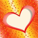 Ευχετήρια κάρτα με την καρδιά. διανυσματική απεικόνιση