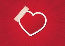 Ευχετήρια κάρτα με την καρδιά Στοκ εικόνες με δικαίωμα ελεύθερης χρήσης