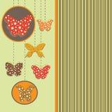 Ευχετήρια κάρτα με τις πεταλούδες Στοκ φωτογραφίες με δικαίωμα ελεύθερης χρήσης