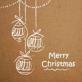 Ευχετήρια κάρτα με τις σφαίρες Χριστουγέννων για τα Χριστούγεννα Στοκ φωτογραφίες με δικαίωμα ελεύθερης χρήσης