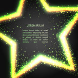 Ευχετήρια κάρτα με το αστέρι νέου Στοκ Φωτογραφίες