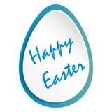 Ευχετήρια κάρτα με το αυγό Πάσχας και τη χειρόγραφη επιγραφή ευτυχές Πάσχα επίσης corel σύρετε το διάνυσμα απεικόνισης απεικόνιση αποθεμάτων