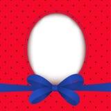Ευχετήρια κάρτα με το μπλε τόξο ελεύθερη απεικόνιση δικαιώματος