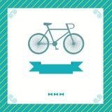 Ευχετήρια κάρτα με το ποδήλατο Στοκ φωτογραφία με δικαίωμα ελεύθερης χρήσης