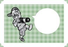Ευχετήρια κάρτα με το τρελλό περπάτημα φωτογράφων ελεύθερη απεικόνιση δικαιώματος