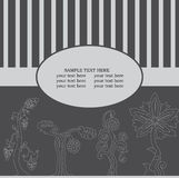 Ευχετήρια κάρτα με το φανταστικό δέντρο Στοκ Εικόνες
