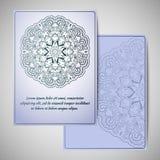 Ευχετήρια κάρτα με το mandala αφηρημένο διάνυσμα προτύπων Στοκ Εικόνα