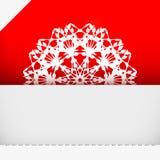 Ευχετήρια κάρτα με snowflake Στοκ εικόνα με δικαίωμα ελεύθερης χρήσης