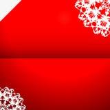 Ευχετήρια κάρτα με snowflake Στοκ φωτογραφία με δικαίωμα ελεύθερης χρήσης