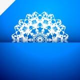 Ευχετήρια κάρτα με snowflake Στοκ Φωτογραφίες