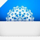 Ευχετήρια κάρτα με snowflake Στοκ Εικόνα