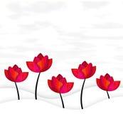 Ευχετήρια κάρτα λουλουδιών Στοκ Φωτογραφίες