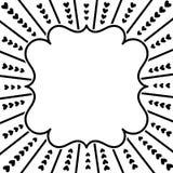 Ευχετήρια κάρτα πλαισίων καρδιών ακτίνων Στοκ Εικόνες