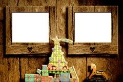 Ευχετήρια κάρτα πλαισίων Χριστουγέννων Στοκ Εικόνες