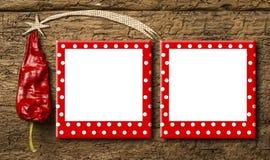 Ευχετήρια κάρτα πλαισίων Χριστουγέννων Στοκ φωτογραφία με δικαίωμα ελεύθερης χρήσης
