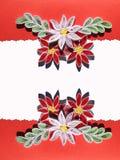 Ευχετήρια κάρτα που διπλώνει Στοκ φωτογραφίες με δικαίωμα ελεύθερης χρήσης