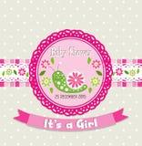 Ευχετήρια κάρτα προτύπων - ντους μωρών, διάνυσμα διανυσματική απεικόνιση