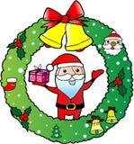 Ευχετήρια κάρτα στεφανιών Χριστουγέννων Στοκ εικόνες με δικαίωμα ελεύθερης χρήσης