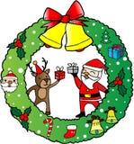 Ευχετήρια κάρτα στεφανιών Χριστουγέννων Στοκ εικόνα με δικαίωμα ελεύθερης χρήσης