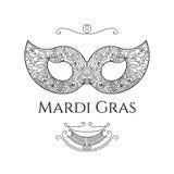 Ευχετήρια κάρτα της Mardi Gras Απεικόνιση αποθεμάτων