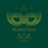 Ευχετήρια κάρτα της Mardi Gras Διανυσματική απεικόνιση