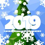 ευχετήρια κάρτα του 2019 διανυσματική απεικόνιση