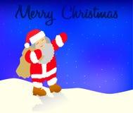Ευχετήρια κάρτα Χαρούμενα Χριστούγεννας με Άγιο Βασίλη Στοκ φωτογραφία με δικαίωμα ελεύθερης χρήσης