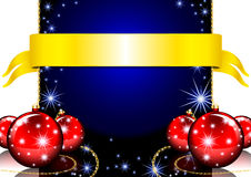Ευχετήρια κάρτα Χαρούμενα Χριστούγεννας με τις σφαίρες Χριστουγέννων και Στοκ φωτογραφίες με δικαίωμα ελεύθερης χρήσης
