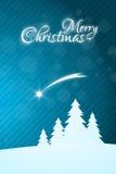 Ευχετήρια κάρτα Χαρούμενα Χριστούγεννας με το αστέρι Στοκ Φωτογραφίες