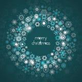 Ευχετήρια κάρτα Χαρούμενα Χριστούγεννας με snowflakes Διανυσματική απεικόνιση