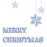 Ευχετήρια κάρτα Χαρούμενα Χριστούγεννας - ύφος περικοπών εγγράφου - στο διάνυσμα Στοκ Εικόνα