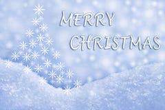 Ευχετήρια κάρτα Χαρούμενα Χριστούγεννας Στοκ Φωτογραφίες