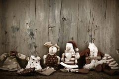 Ευχετήρια κάρτα Χριστουγέννων Άγιου Βασίλη Στοκ φωτογραφία με δικαίωμα ελεύθερης χρήσης
