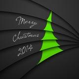 Ευχετήρια κάρτα Χριστουγέννων, εγγραφή Χαρούμενα Χριστούγεννας Στοκ φωτογραφία με δικαίωμα ελεύθερης χρήσης