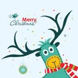 Ευχετήρια κάρτα Χριστουγέννων, διάνυσμα Στοκ Φωτογραφίες