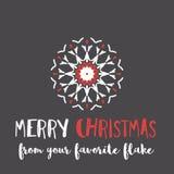 Ευχετήρια κάρτα Χριστουγέννων με τη γεωμετρικά διακόσμηση και το κείμενο απεικόνιση αποθεμάτων