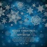 Ευχετήρια κάρτα Χριστουγέννων με το διάστημα για το αντίγραφο - απεικόνιση Στοκ εικόνα με δικαίωμα ελεύθερης χρήσης