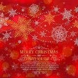Ευχετήρια κάρτα Χριστουγέννων με το διάστημα για το αντίγραφο - απεικόνιση Στοκ Εικόνες