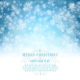 Ευχετήρια κάρτα Χριστουγέννων με το διάστημα για το αντίγραφο - απεικόνιση Στοκ Φωτογραφίες