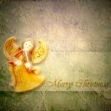 Ευχετήρια κάρτα Χριστουγέννων μουσικών αγγέλου Στοκ φωτογραφίες με δικαίωμα ελεύθερης χρήσης