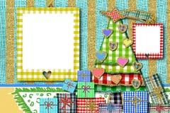 Ευχετήρια κάρτα Χριστουγέννων πλαισίων φωτογραφιών Στοκ Εικόνες